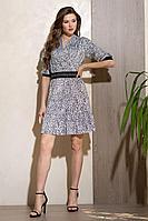 Женское осеннее синее нарядное платье Condra 4305 50р.