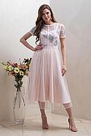 Женское осеннее розовое нарядное платье Condra 4315 46р.