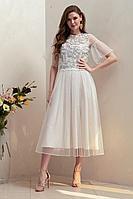 Женское осеннее белое нарядное платье Condra 4317 50р.