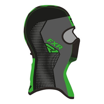 Балаклава FXR Shredder Tech, размер L, чёрный, серый, зелёный