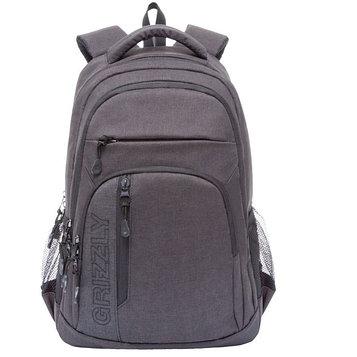 Рюкзак молодежный Grizzly RU-700-5 47x32х17 см, эргономичная спинка, чёрный