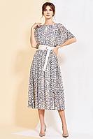 Женское летнее шифоновое платье Kaloris 1723 52р.