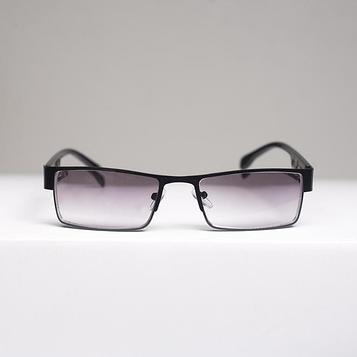 Очки корригирующие 336, размер 13,2х13х3,1, цвет чёрный, тонированные, отгибающаяся дужка, -1