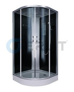 Душевая кабина ER3508P-C4 800*800*2150 (СЕРЫЙ) низкий поддон, тонированое стекло