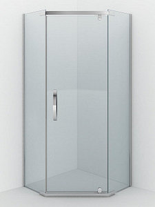 Душевое ограждение - AB215-90  900*900*2000 (без поддона) светлое стекло