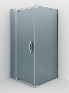 Душевое ограждение - AB244-100  1000*1000*2000 (без поддона) тонированое стекло