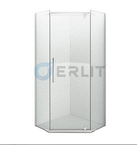 Душевое ограждение ER10109V-C1 900*900*2000 (без поддона) светлое стекло