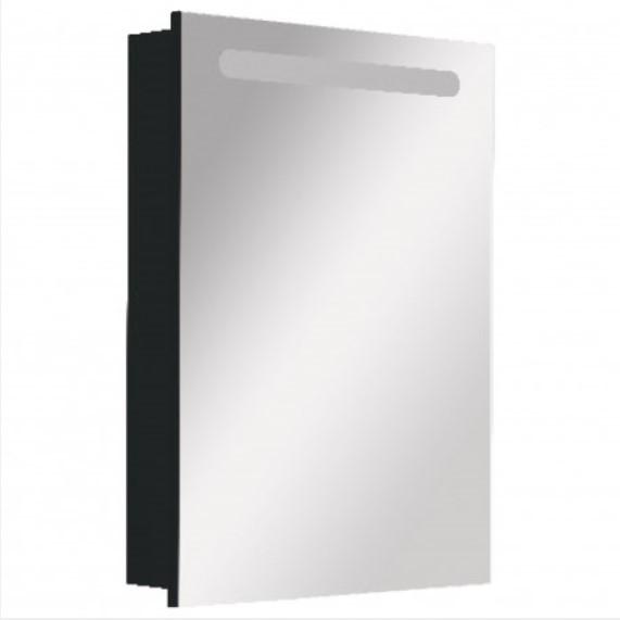 ZRU9000098 Зеркальный шкаф Victoria Nord Black Edition 600мм - фото 1