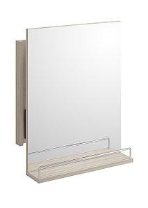 Зеркало Cersanit SMART без подсветки, с выдвижным механ., с полк., белый