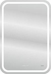 Зеркало LED DESIGN PRO 050 55 хол. тепл. cвет часы с подсветкой прямоугольное