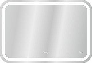 Зеркало LED DESIGN PRO 050 80 хол. тепл. cвет часы с подсветкой прямоугольное