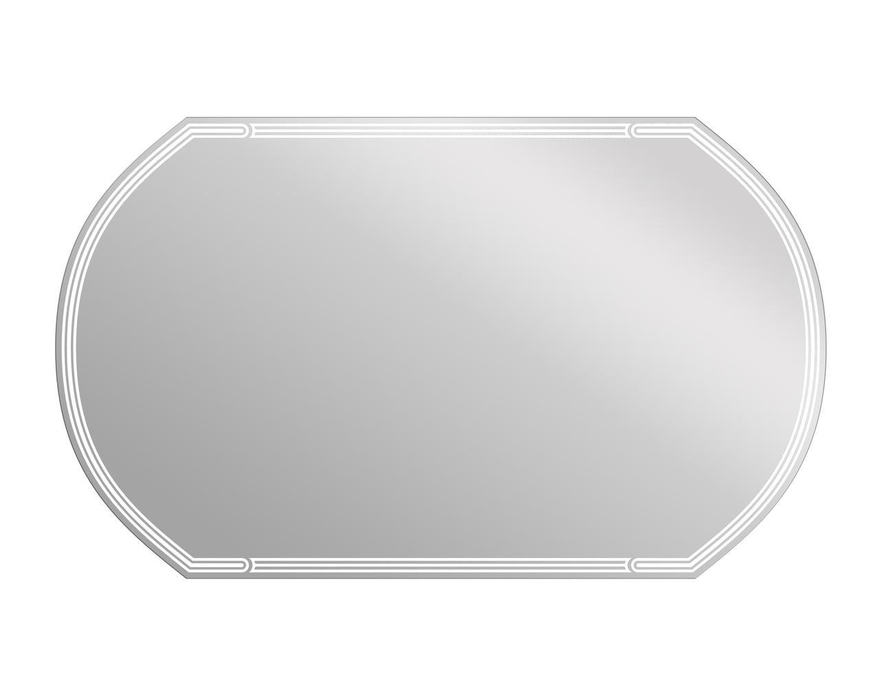 Зеркало LED 090 design 100x60 с подсветкой с антизапотеванием овальное - фото 1