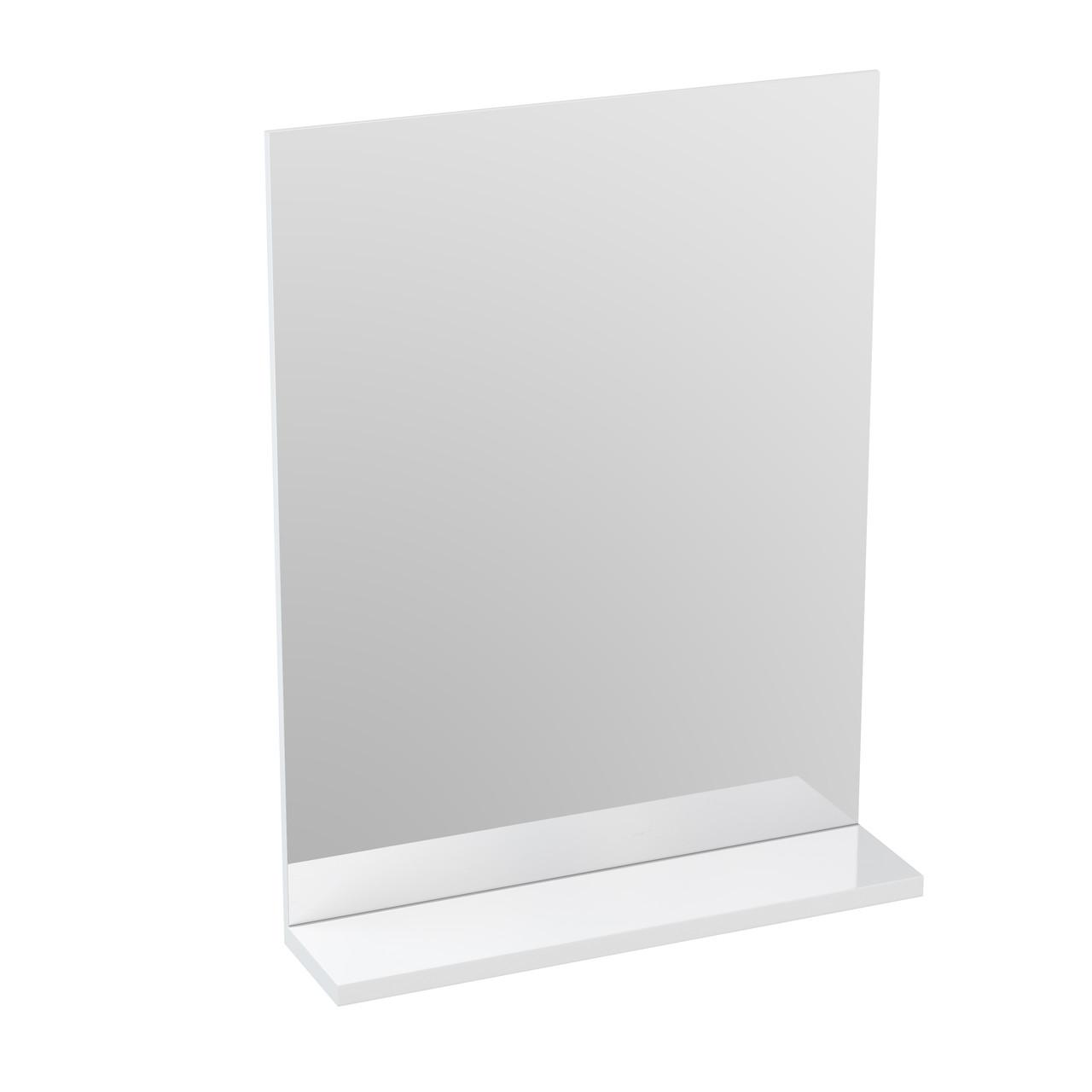 Зеркало с полкой MELAR 50 без подсветки прямоугольное универсальная белый - фото 1