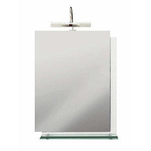 Зеркало Cersanit Estella с полочкой,с подсвет.белый