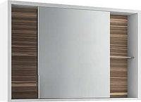 Шкаф зеркальный Белль 100, белый с макассар