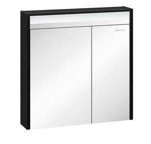 Шкаф зеркальный Карино 80, черный с эбони