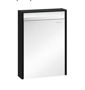 Шкаф зеркальный Карино 60, черный с эбони