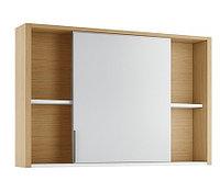 Шкаф зеркальный Уника 100, белый с дуб гальяно