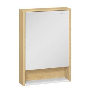 Шкаф зеркальный Уника 60, белый с дуб гальяно