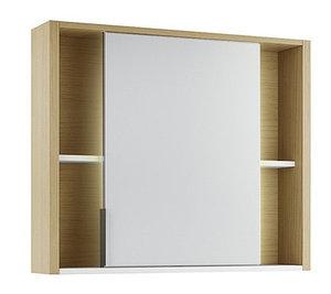 Шкаф зеркальный Уника 80, белый с дуб гальяно
