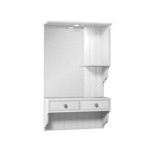 Шкаф зеркальный Дижон 60, белый