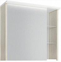 Шкаф зеркальный Марино 80, белый с выбеленным деревом