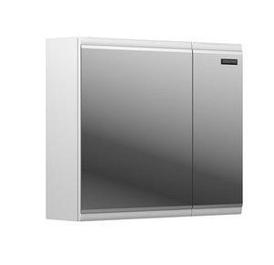 Шкаф зеркальный Форте 80, белый