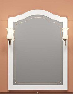 Зеркало Лоренцо 80, цвет белый