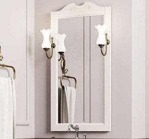 Зеркало Клио 50, цвет белый