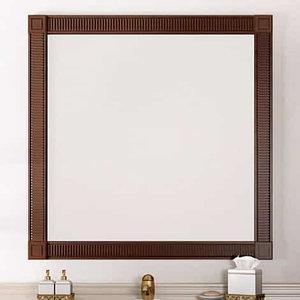 Зеркало Фреско 80, цвет свет. орех