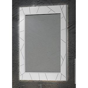 Зеркало Луиджи 70, цвет белый матовый