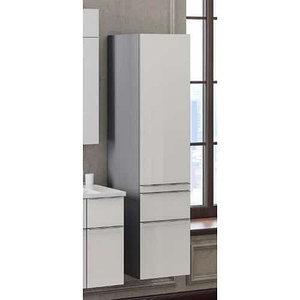 Пенал Кристалл, цвет титан/белый (9003), правый