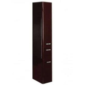 Шкаф - колонна, подвесная, ВАЛЕНСИЯ, левая, гранат 340*1670*291 мм