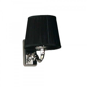 Светильник, 3013, M, CR, цвет хром, плафон черный