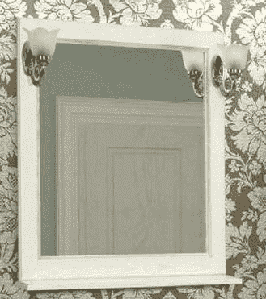 Зеркало, ЖЕРОНА, 85, белое серебро