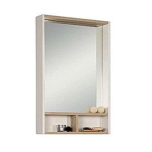 Зеркало - шкаф, ЙОРК, 55, белый, ясень фабрик