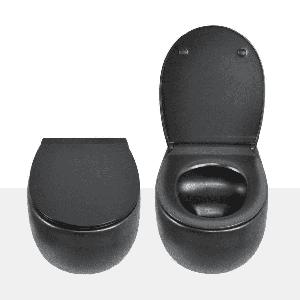 AV1100MatteBlack Унитаз подвесной (с креплениями) черный