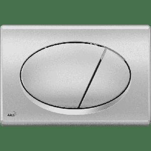 М 072  хром матовая (овальная кнопка)