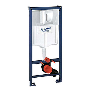 Инсталляция для унитаза подвесного стандартная, комплект Grohe rapid SL (хром, квадрат, двойная) 3в1