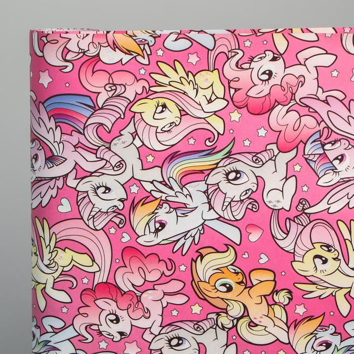 Бумага упаковочная глянцевая двусторонняя, My Little Pony, 60x90 см - фото 3