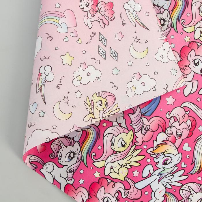 Бумага упаковочная глянцевая двусторонняя, My Little Pony, 60x90 см - фото 4