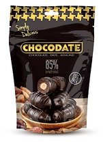 Финики в шоколаде ТЁМНЫЙ 85% какао Chocodate Exclusive Real Extra Dark 100g Pouch V2