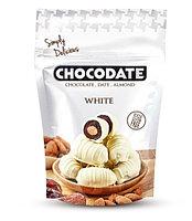 Финики в шоколаде БЕЛЫЙ Chocodate Exclusive Real White 100g Pouch V2