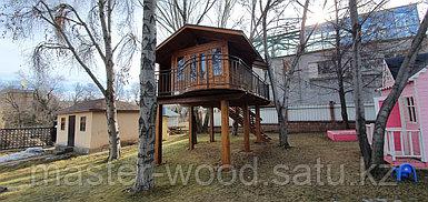Изготовление деревянных домиков, дом на дереве