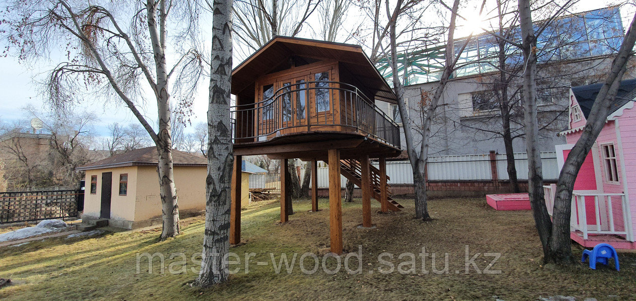 Изготовление деревянных домиков, дом на дереве - фото 1