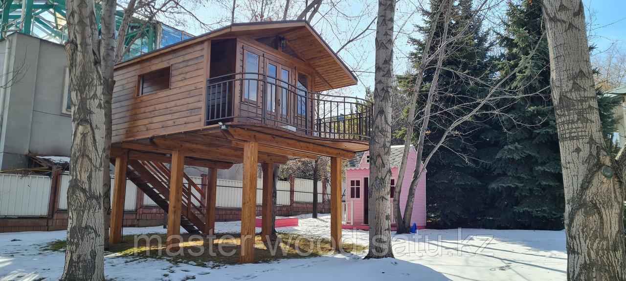 Изготовление деревянных домиков, дом на дереве - фото 6