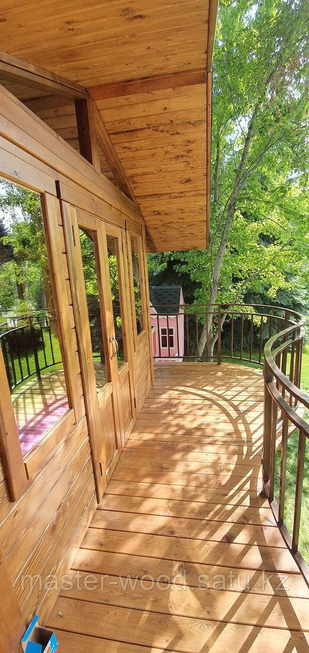 Изготовление деревянных домиков, дом на дереве - фото 4