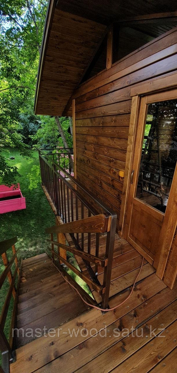 Изготовление деревянных домиков, дом на дереве - фото 2