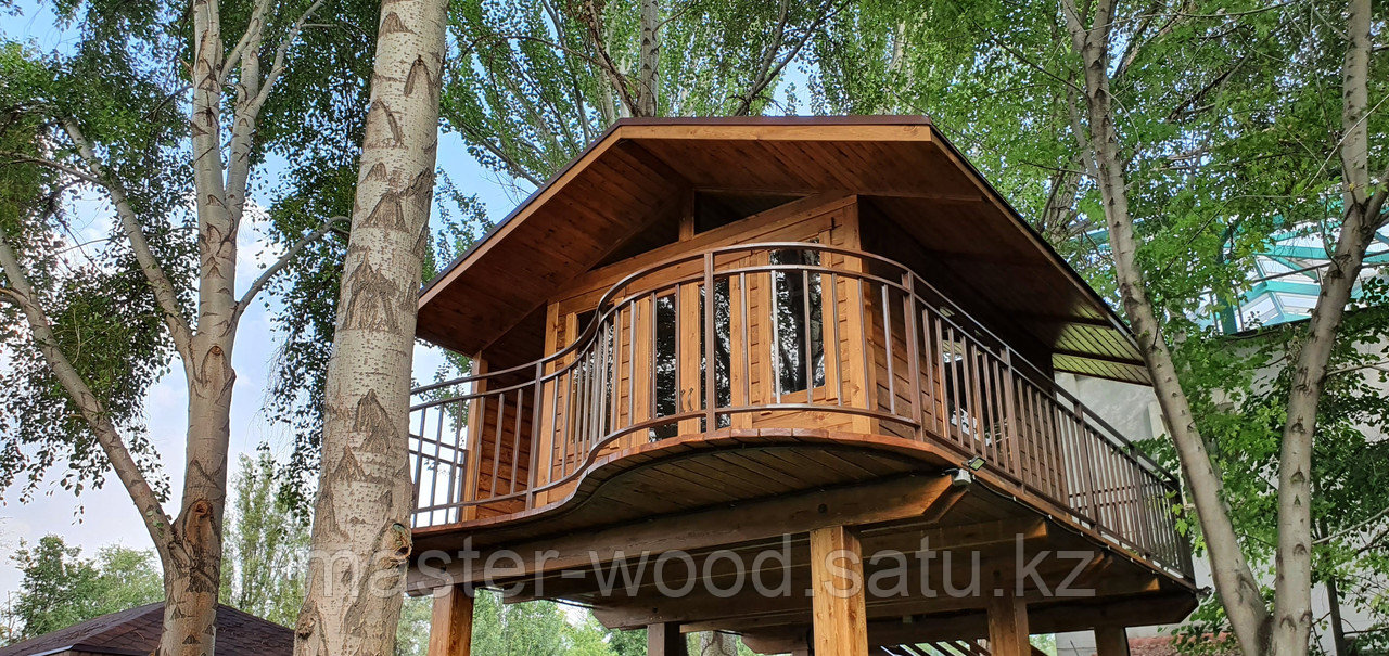 Изготовление деревянных домиков, дом на дереве - фото 7