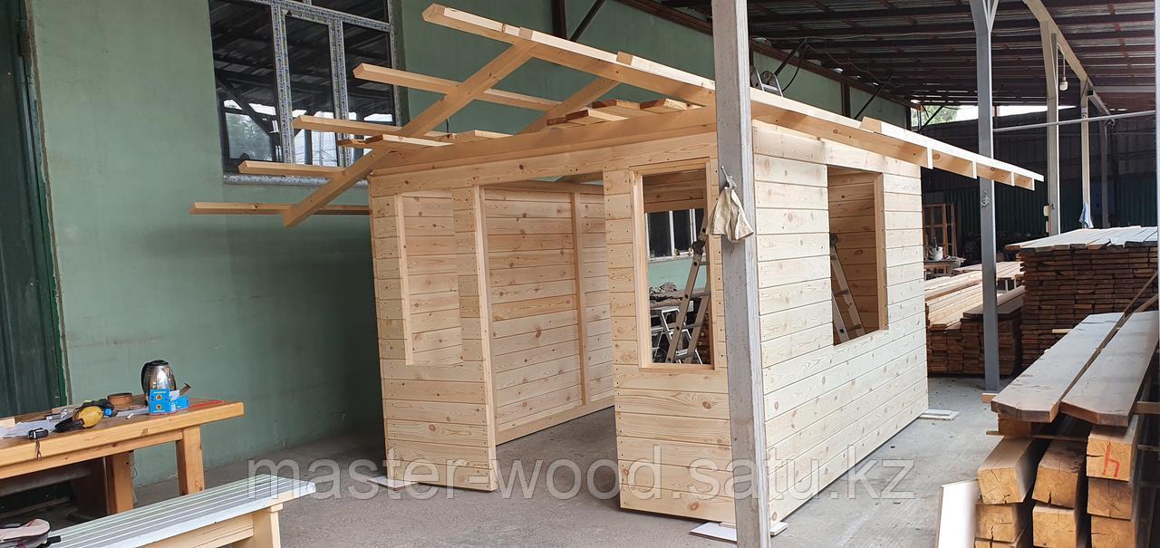Изготовление деревянных домиков, дом на дереве - фото 8